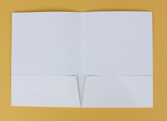 Glossy White Letter Size Presentation Folder